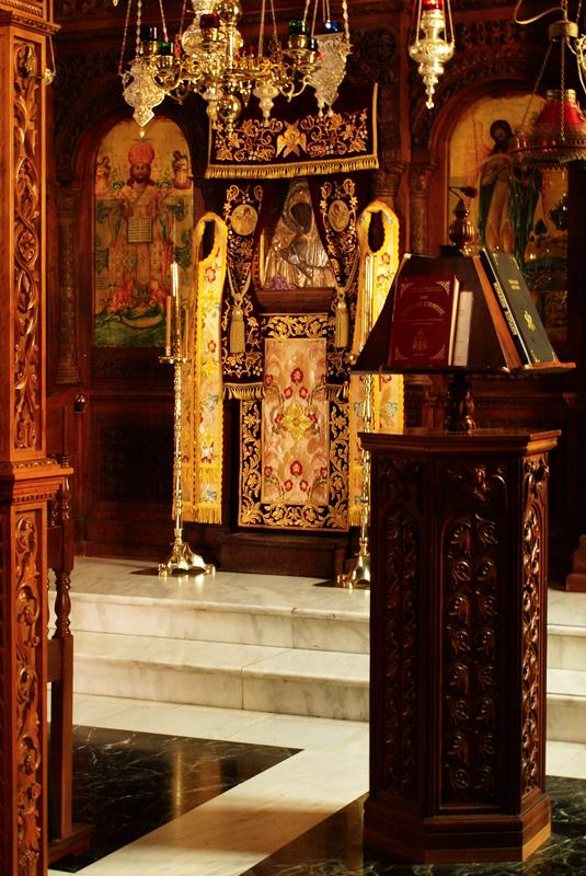 Μαχαιριωτισσα (Чудотворный образ Богородицы в соборном храме монастыря Махера)