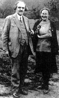 Мать Мария и Николай Бердяев. 1930 год