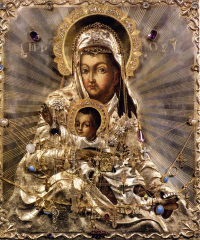 «Милостивая» Киккская икона Божией Матери (находится в Зачатьевском женском монастыре)
