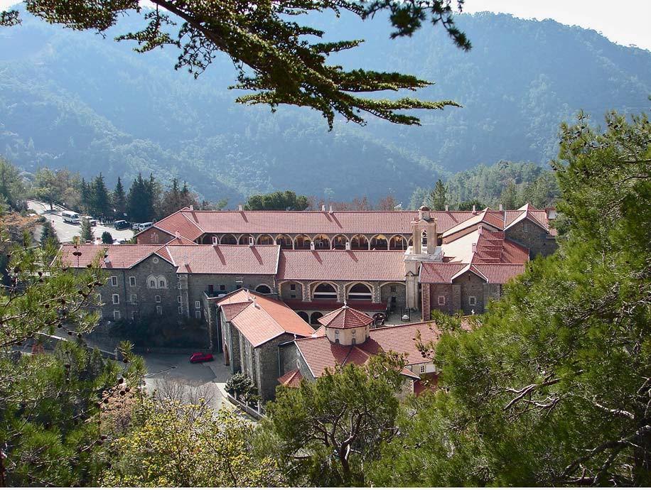Киккский монастырь (вид сверху)