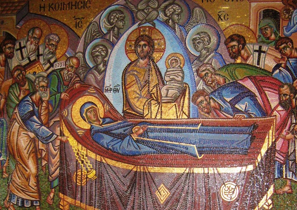 Мозаика Успения Божией Матери в Киккском монастыре