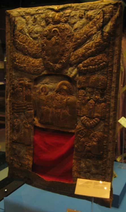 Старый покров на чудотворную Киккскую икону