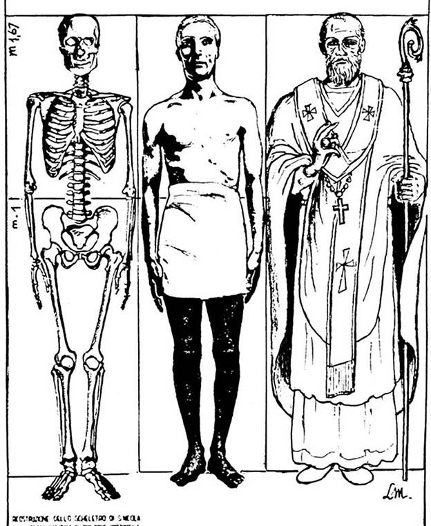 По строению скелета был воссоздан точный рост великого святого