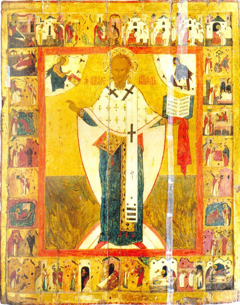 Святитель Николай Чудотворец (Зарайский), c житиeм Последняя треть XVI века. Кострома