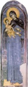 Белая церковь, село Каран, Сербия. Фрескав иконостасе 1340–1342 гг.