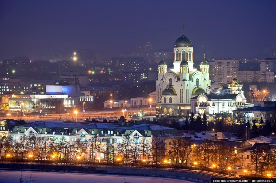 Вид на Храм-на-крови, Екатеринбург