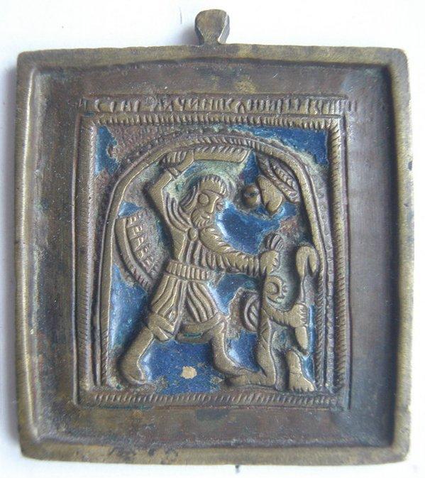 Древняя Каменная икона святого Никиты