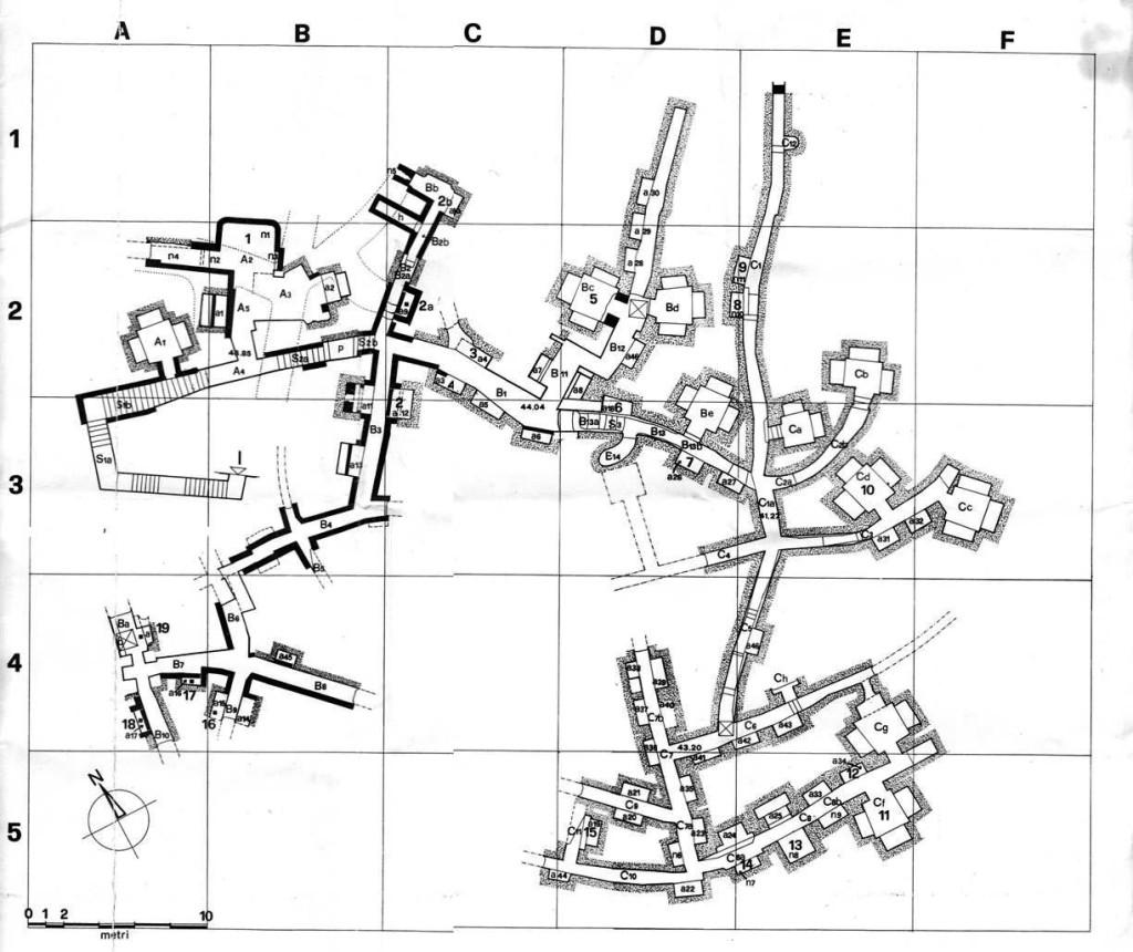 Карта катакомб Присциллы