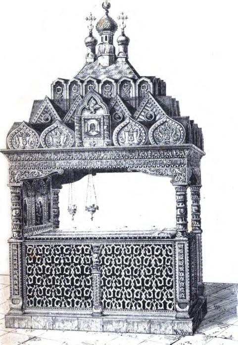 Металлическое надгробие над могилой Пересвета и Осляби (не сохранилось до нашего времени)