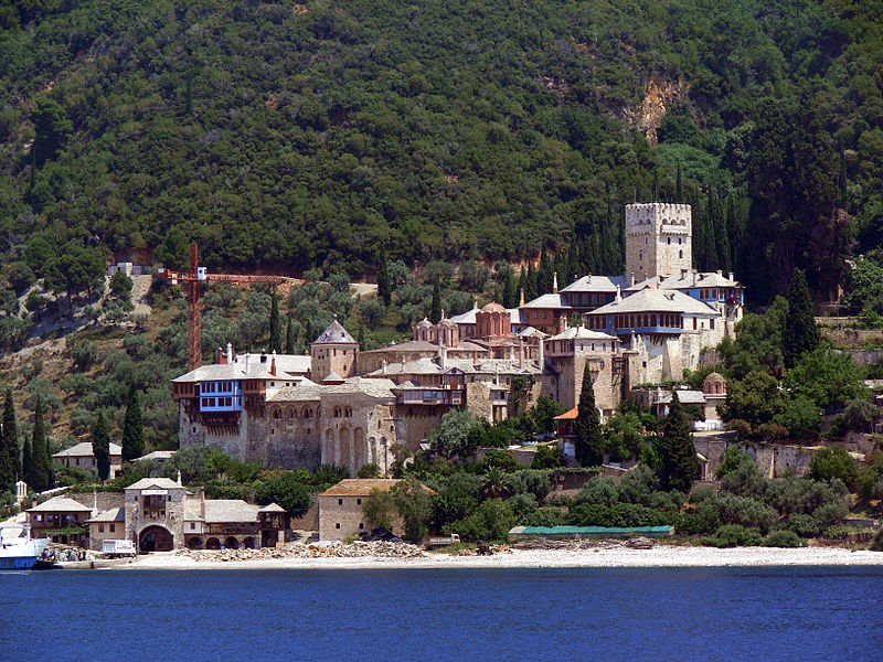 Монастырь Дохиа́р на на Святой Горе Афон