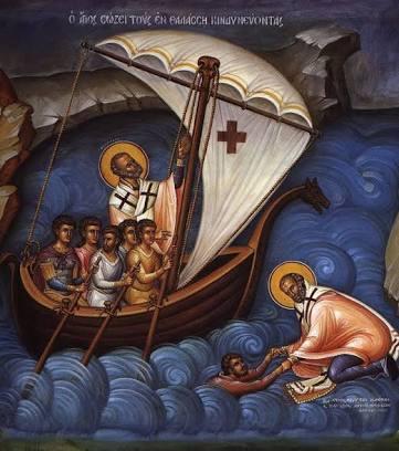Святитель Николай спасает утопающего